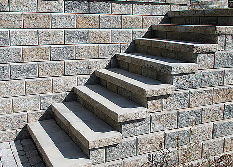 produkte - mauersysteme – allan block® stützmauer – frei beton, Garten Ideen